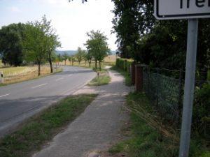 Inlineskate Laufstrecke Neuhof nach Diekholzen und wieder zurück