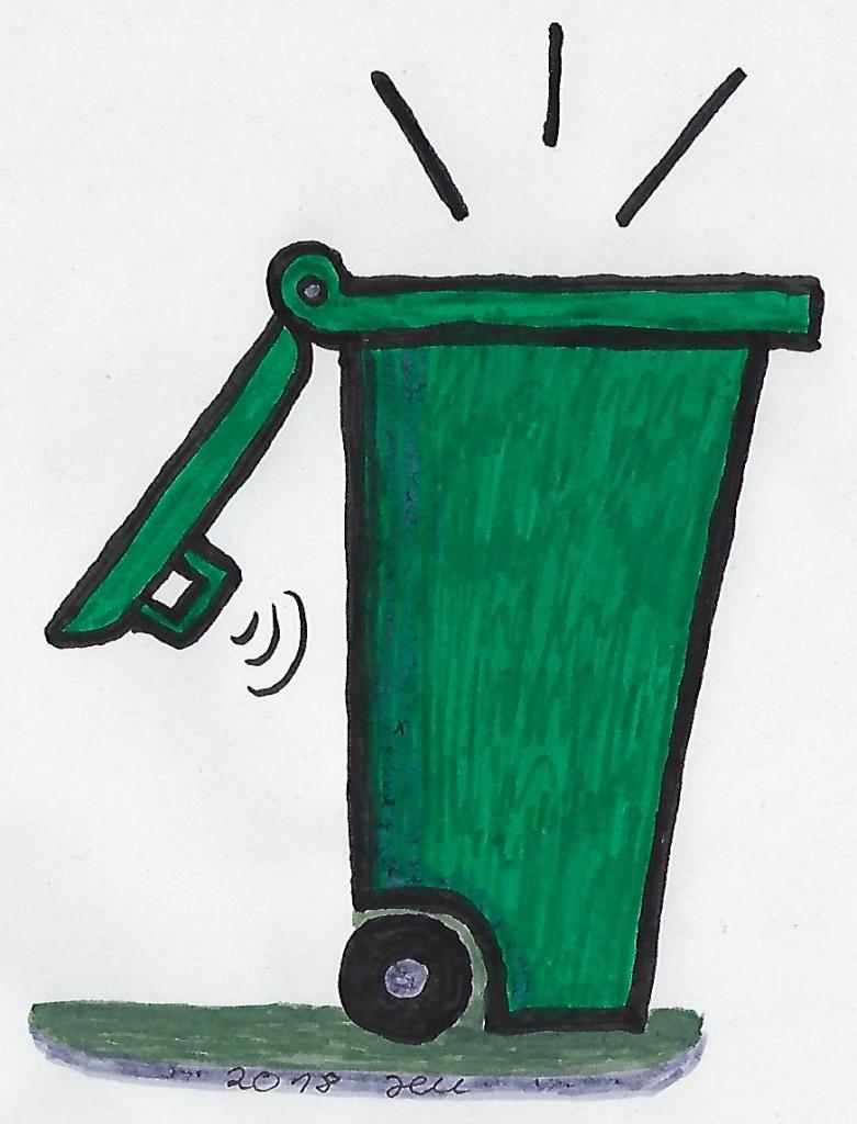 Mülltonnen reinigen hilft gegen Gerüche und Maden